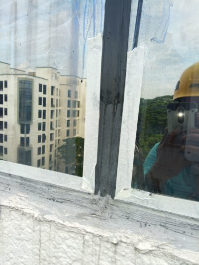 Before Re-sealant Works - Waterproofing contractor singapore