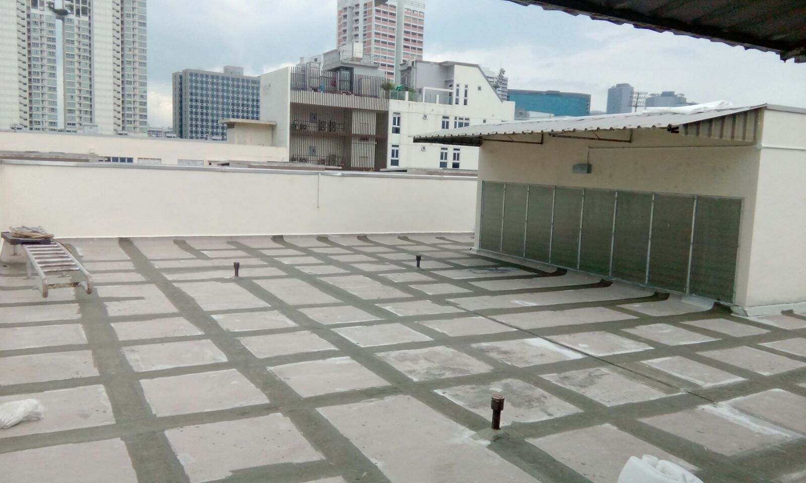 RC Roof (before) - Waterproofing Contractor Singapore