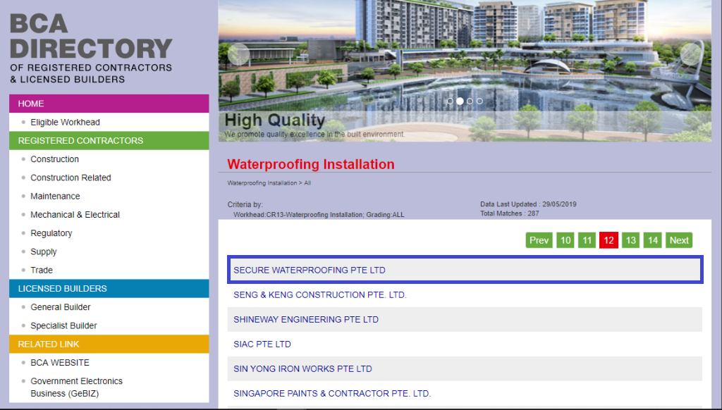 Singapore Licensed Waterproofing Contractor and Specialist